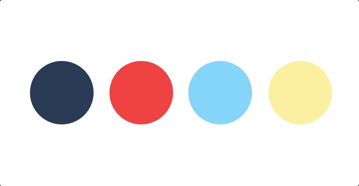 our happy divorce brand color palette